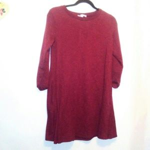 She and Sky Pullover Burgundy Dress Size M